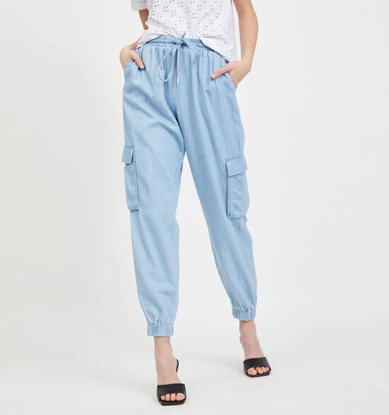 Vila Blauwe Cargo Jeans
