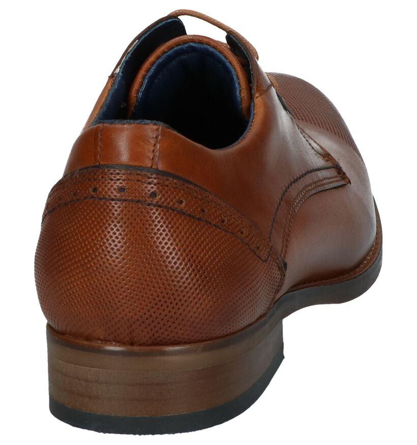 Via Borgo Chaussures habillées en Cognac en cuir (250761)