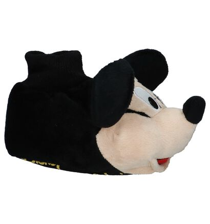 Mickey Mouse Pantoufles fermées en Noir en textile (226416)
