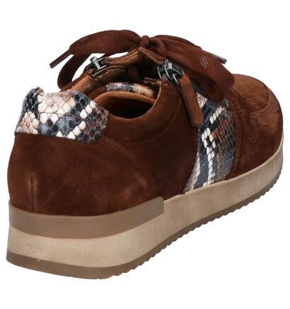 Gabor Best Fitting Bruine Sneakers in daim (260218)
