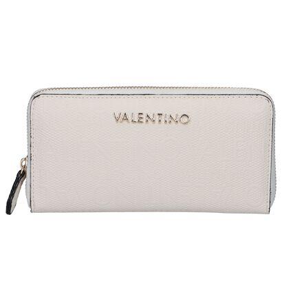 Beige Ritsportemonnee Valentino Handbags Dory in kunstleer (248403)
