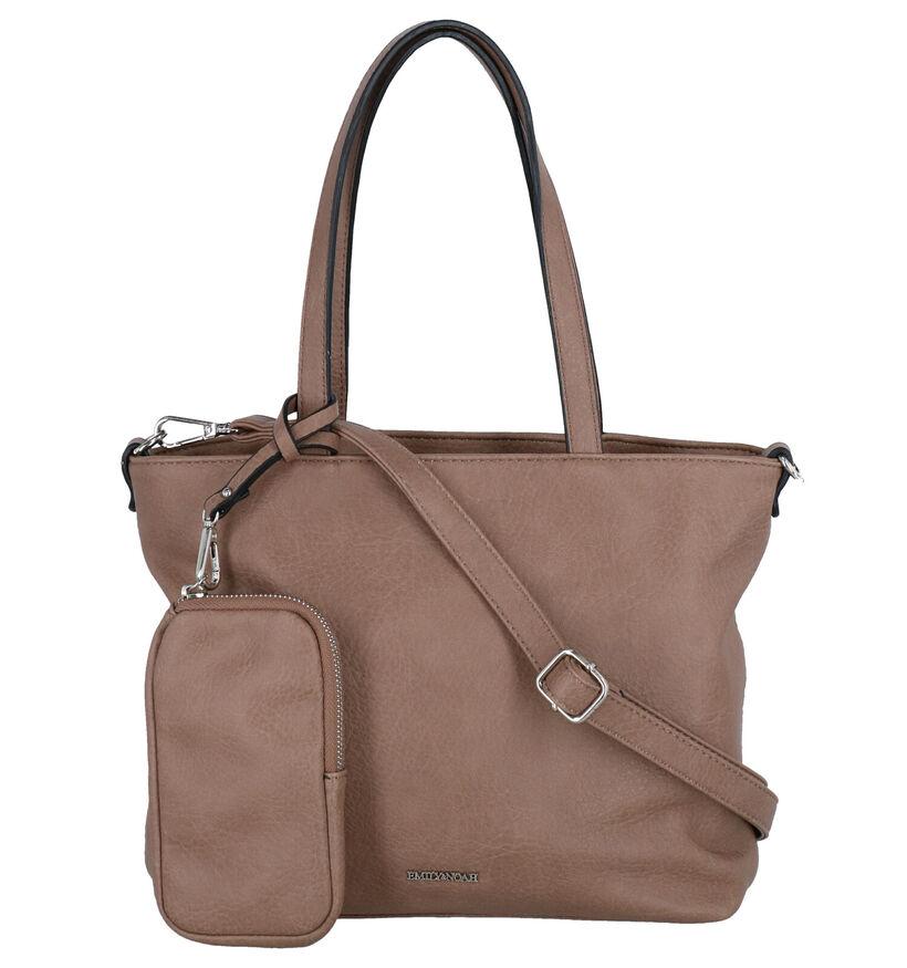 Emily & Noah Zwarte Bag in bag Handtas in kunstleer (282167)