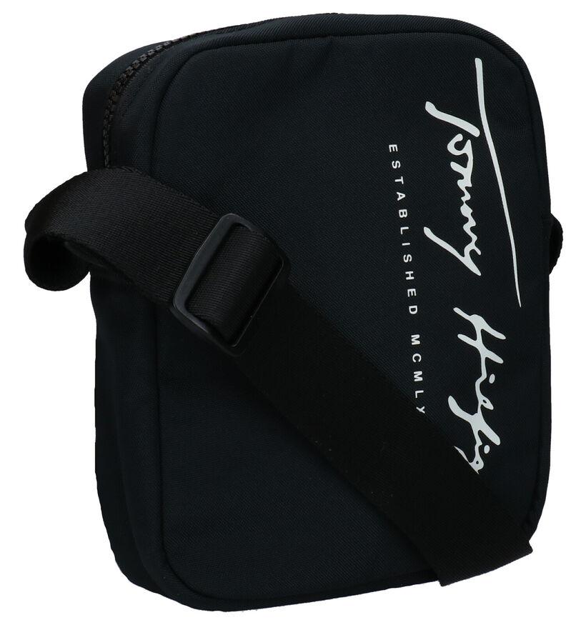 Tommy Hilfiger Reporter Sac porté croisé en Noir en textile (276518)