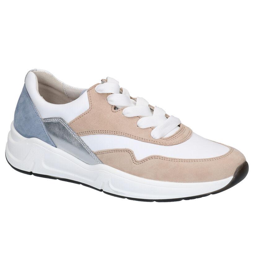 Gabor Optifit Witte Sneakers in leer (271538)