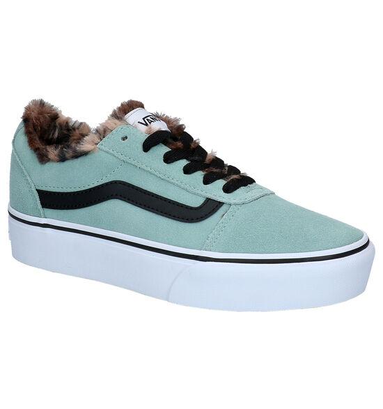 Vans Ward Platform Blauwe Sneakers