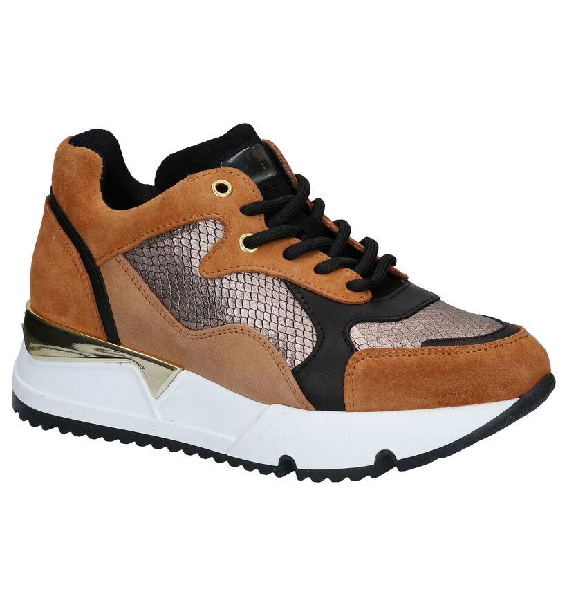 Bullboxer Cognac/Bronzen Sneakers in leer (281542)