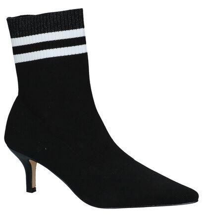 Zwarte Korte Laarzen La Strada in stof (229891)