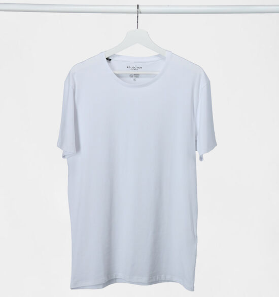 Selected Homme 3 Pack T-shirts en Blanc