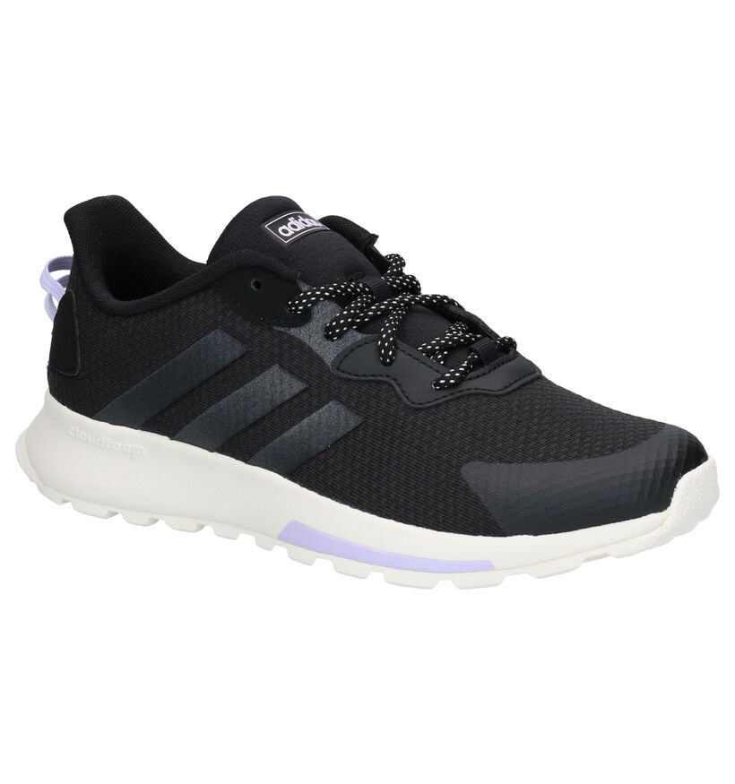 adidas Quesa Trail X Zwarte Sneakers in stof (264929)