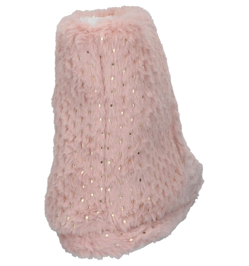 Youh! Pantoufles fermées en Rose en textile (225857)