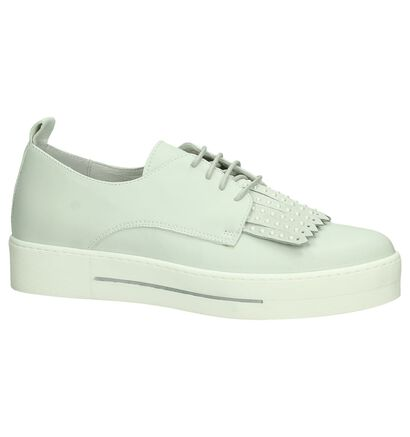 Louisa Chaussures à lacets en Gris clair en cuir (196455)