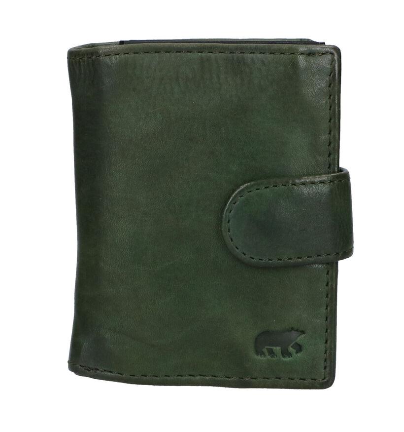 Bear Design Porte-cartes en Noir en cuir (284265)