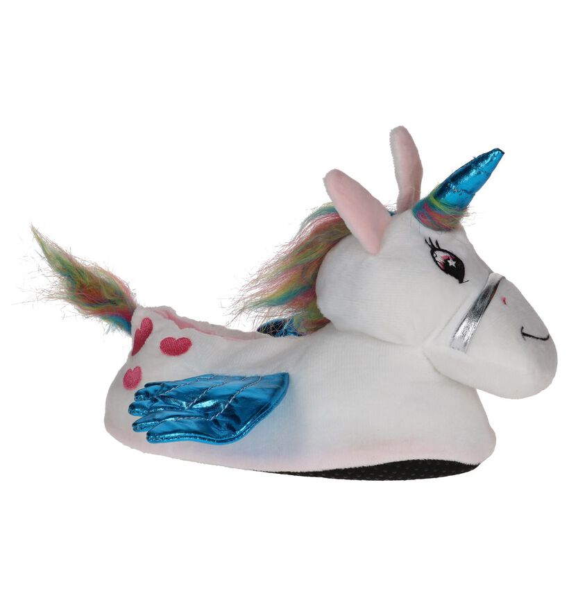 Dazzle Witte Unicorn Pantoffels in stof (224146)
