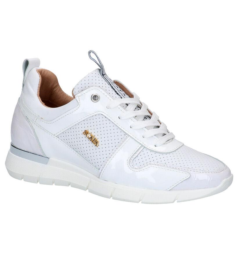 Scapa Chaussures à lacets en Blanc en cuir (270347)