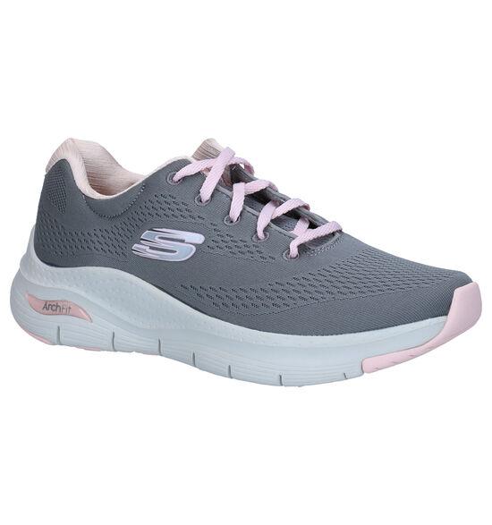 Skechers Arch Fit Grijze Sneakers