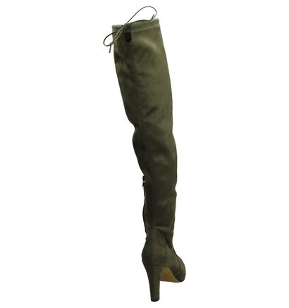 Taupe Les Autres Overknee Laars, Taupe, pdp