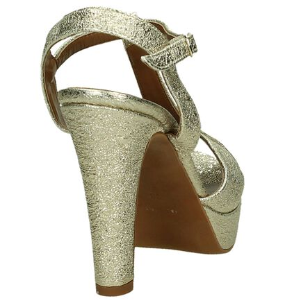 Youh! Sandales à talons en Or en cuir (195924)