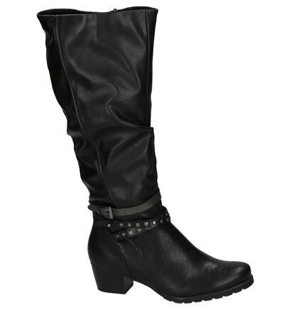 Lange Laarzen Zwart Marco Tozzi in imitatieleer (202743)