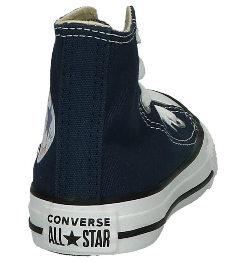 Converse Chuck Taylor All Star Baskets hautes en Noir en textile (266022)