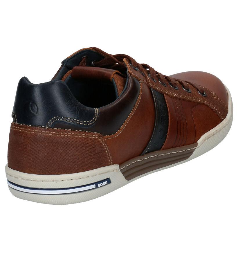 Björn Borg Coltrane Chaussures à lacets en Bleu en cuir (278577)