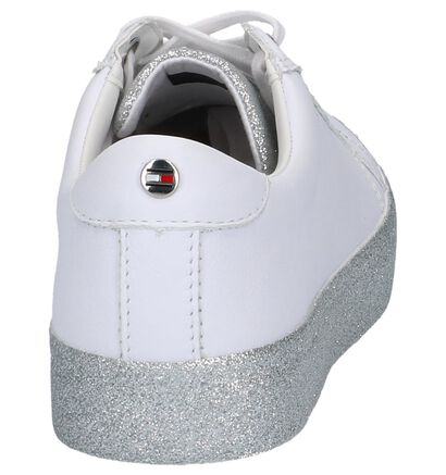 Donkerblauwe Tommy Hilfiger Sparkle Outsole Glitter Sneaker, Wit, pdp