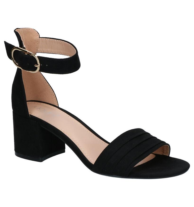 Youh! Zwarte Sandalen in stof (266441)