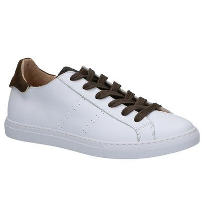March23 Baskets basses en Blanc en cuir (269422)