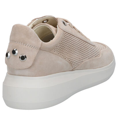 Geox Rubidia Blauwe Sneakers in daim (266838)