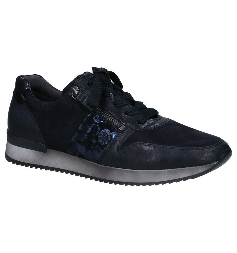 Gabor Best Fitting Chaussures à lacets en Bleu en nubuck (283998)