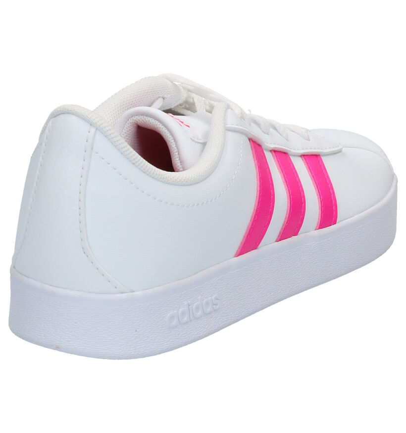 adidas VL Court Witte Sneakers in kunstleer (264859)