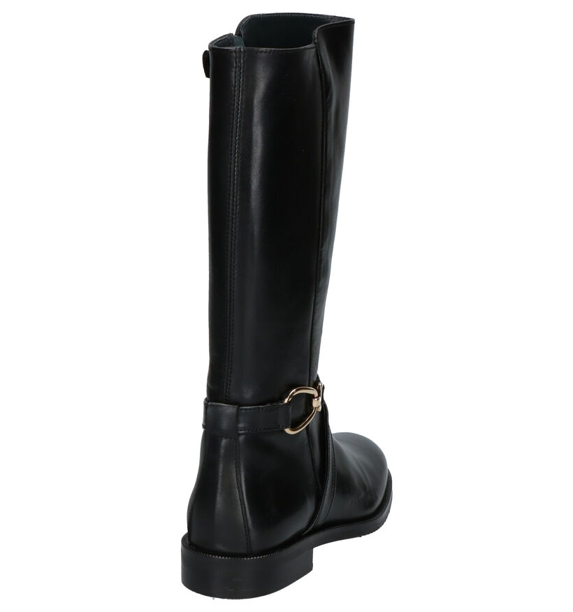 Hampton Bays Bottes hautes en Noir en cuir (260996)