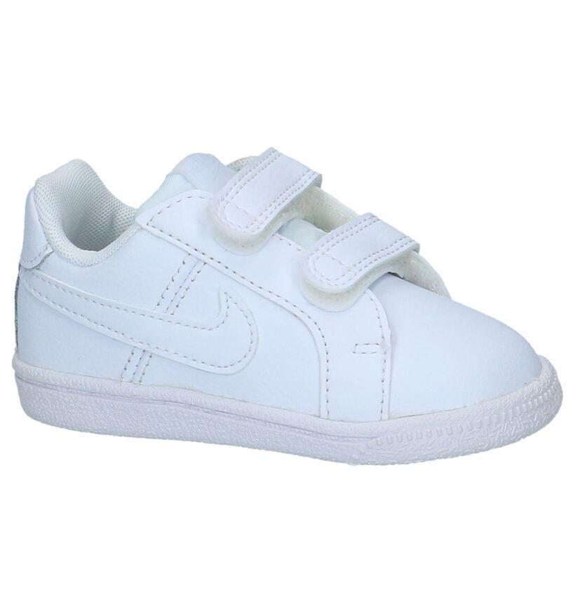 Witte Babysneakers met Velcro Nike Court Royale in leer (233455)