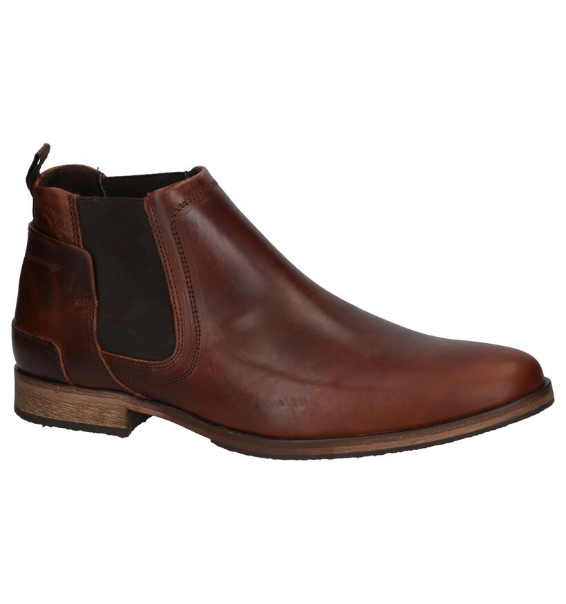 Bullboxer Chelsea Boots en Brun foncé en cuir (267067)