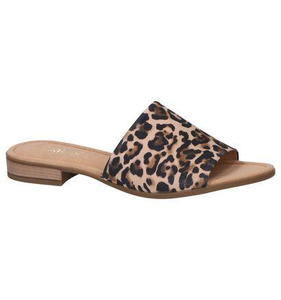 Gabor Comfort Nu-pieds plates en Brun clair en cuir (245492)