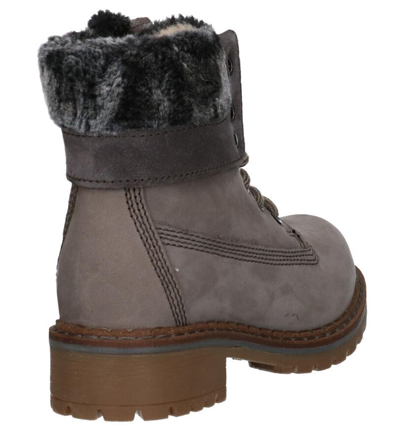 Dazzle Grijze Boots in nubuck (261602)