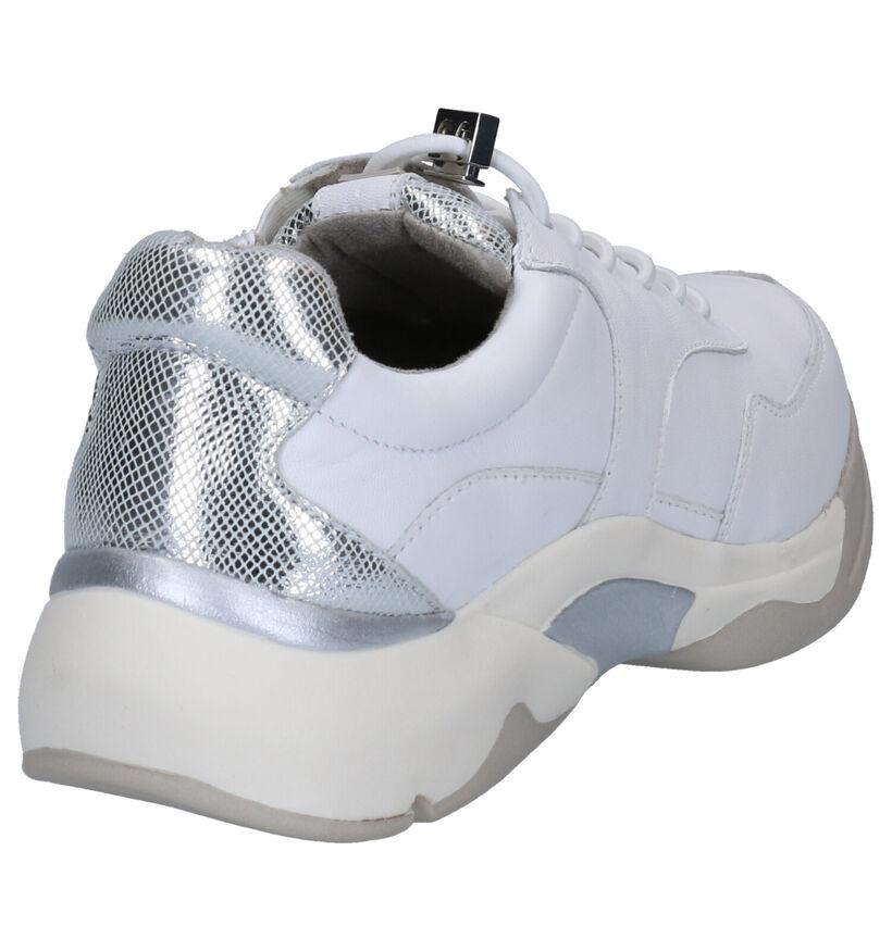 Tamaris Pure Relax Sneakers en Blanc/Cognac en cuir (270216)