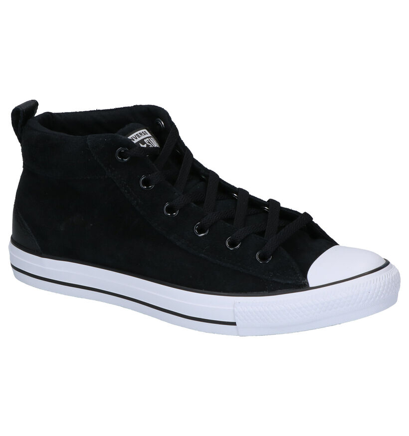 Converse AS Street Zwarte Sneakers in daim (252769)