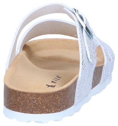 Zilveren Slippers Milo & Mila in stof (241322)