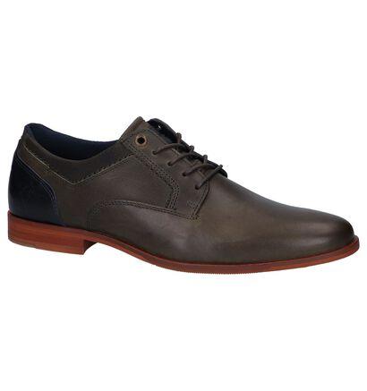 Bullboxer Chaussures habillées en Vert kaki en cuir (256305)