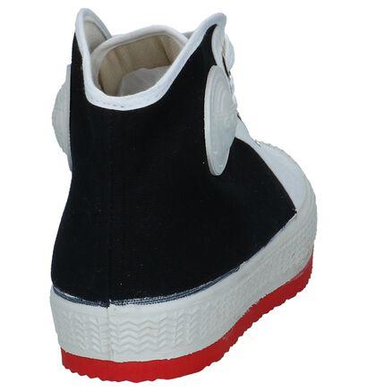 0051 Anton Zwart/Witte Sneakers, Wit, pdp