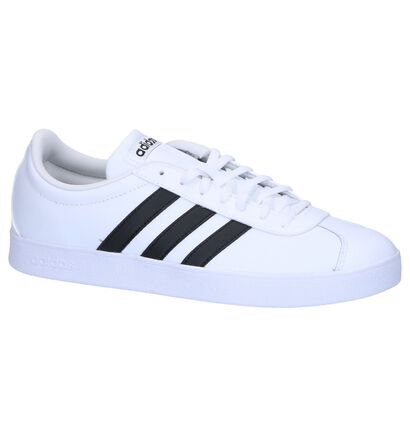 Witte adidas VL Court 2.0 Sneakers in kunstleer (252485)