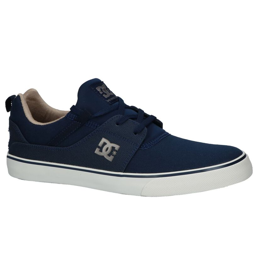 DC Shoes Baskets slip-on en Bleu foncé en textile (210580)