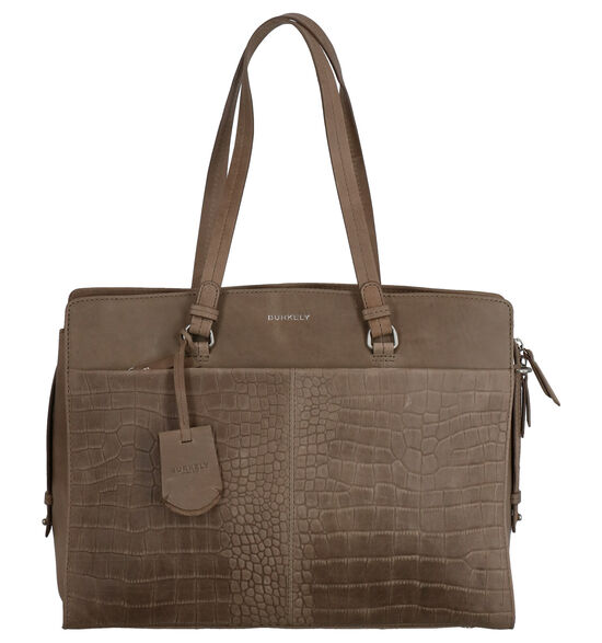 Burkely Croco Cody Sac Professionnel en Taupe