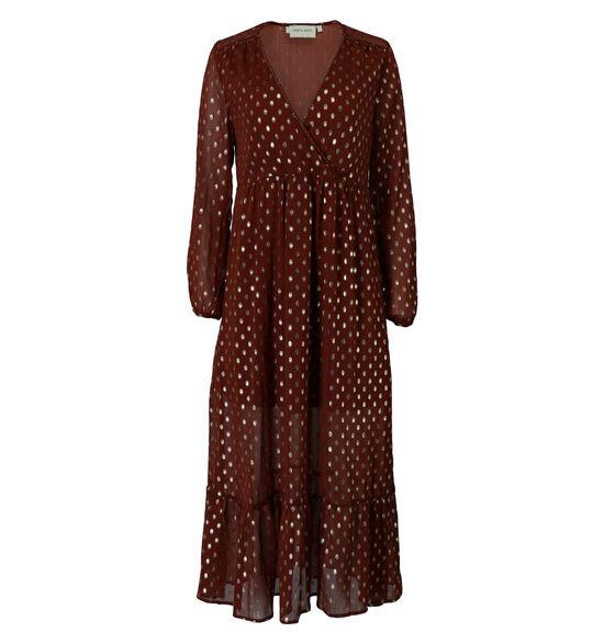 Cherry Paris Robe longue en Brun