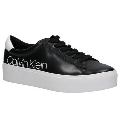 Calvin Klein Janika Zwarte Sneakers in leer (255818)
