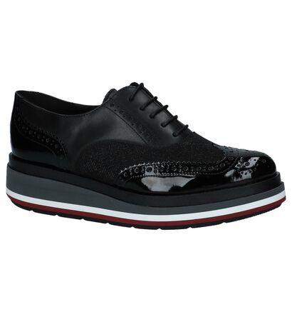 Hampton Bays Chaussures à lacets en Noir en cuir verni (223785)