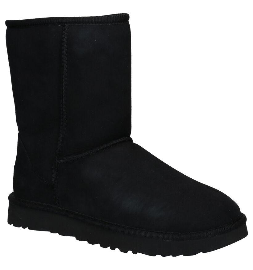 UGG Classic Zwarte Laarzen in daim (223466)