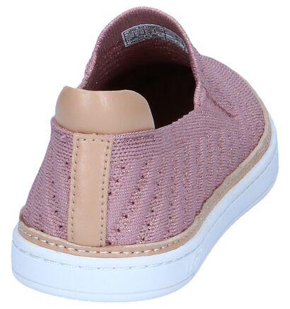 UGG Chaussures slip-on en Rose clair en textile (239591)