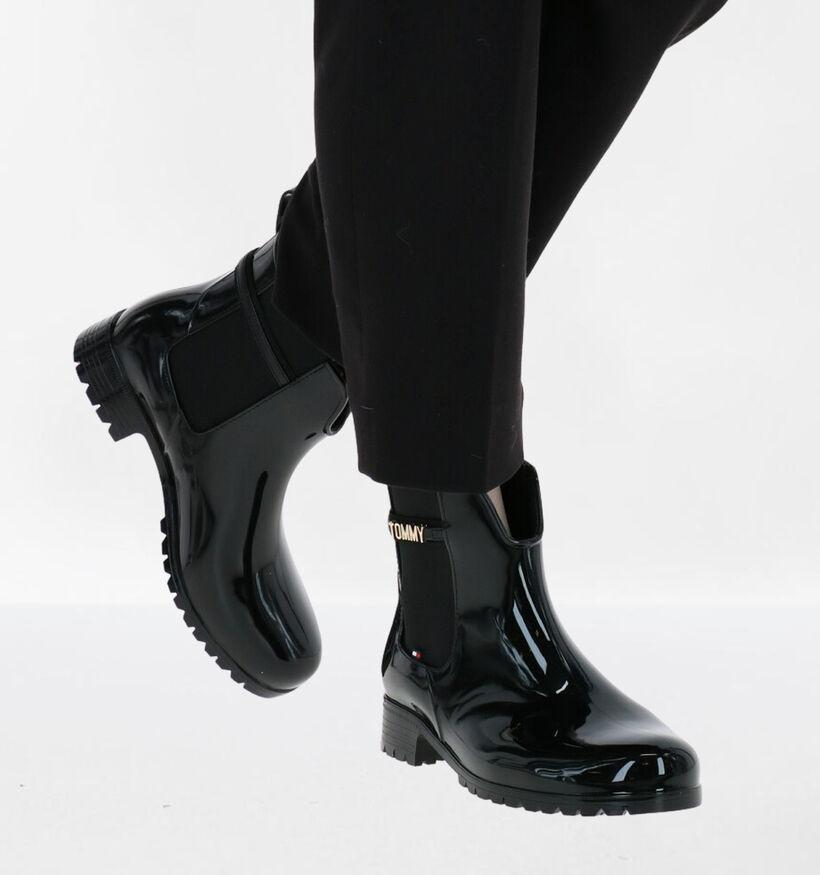 Tommy Hilfiger Bottes de pluie en Noir en synthétique (279980)