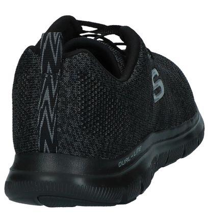 Donkergrijze Sneakers Skechers Flex Appeal in stof (224387)